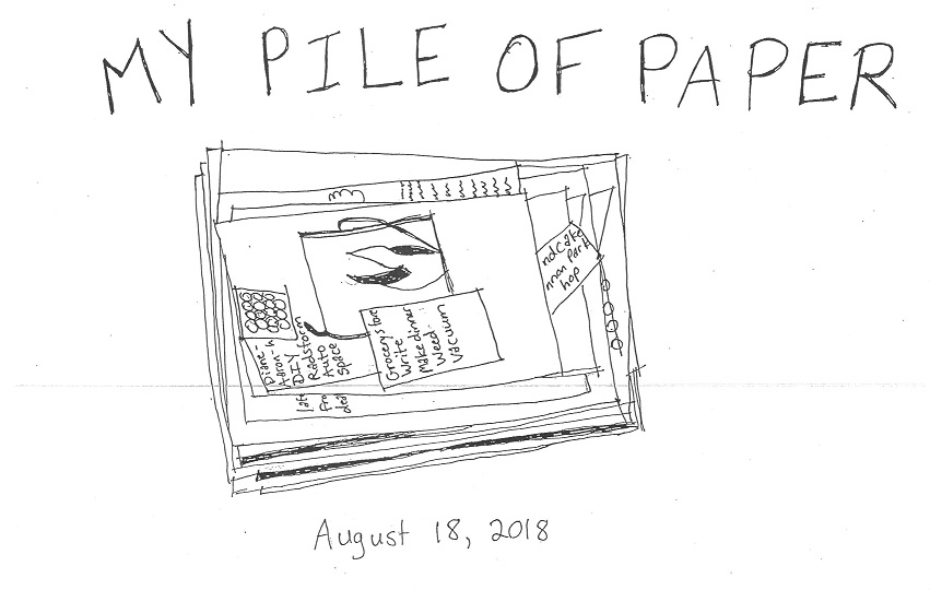 "Cover image for ""My Pile of Paper"""