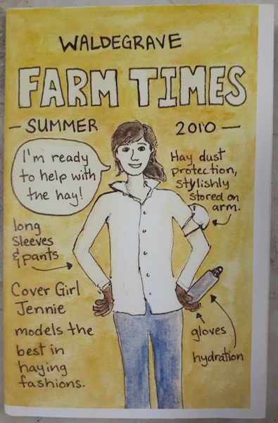 Waldegrave Farm Times Summer 2010 zine cover