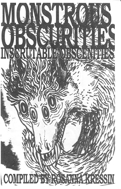 Cover image for Monstrous Obscurities : Inscrutable Obscenities
