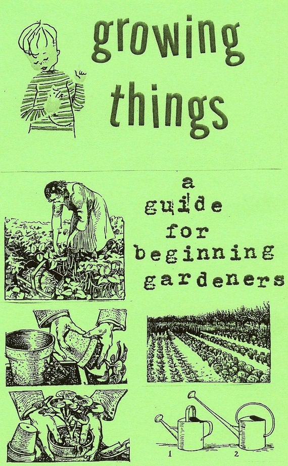 Cover of Growing Things zine
