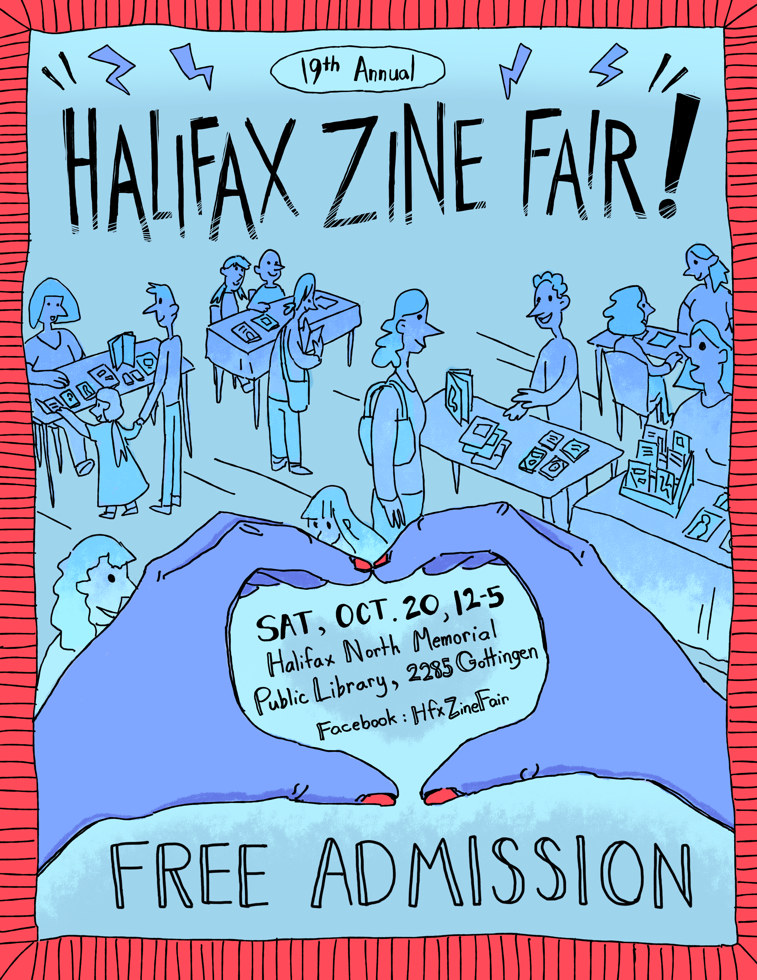 Poster for the Halifax Zine Fair