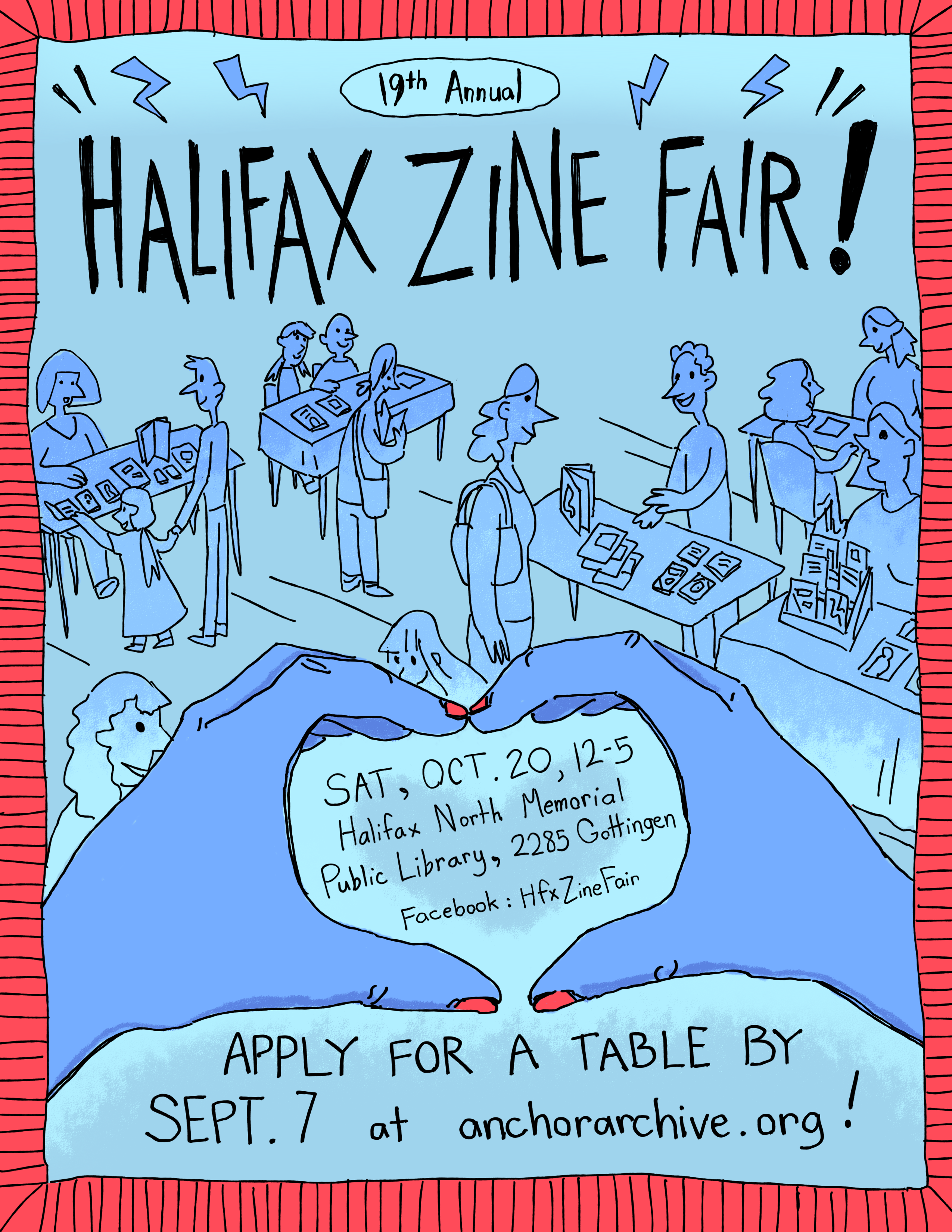 Poster for 2018 Halifax Zine Fair